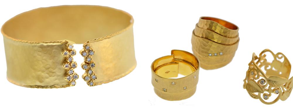 14k Yellow Gold and Diamonds; By Marika