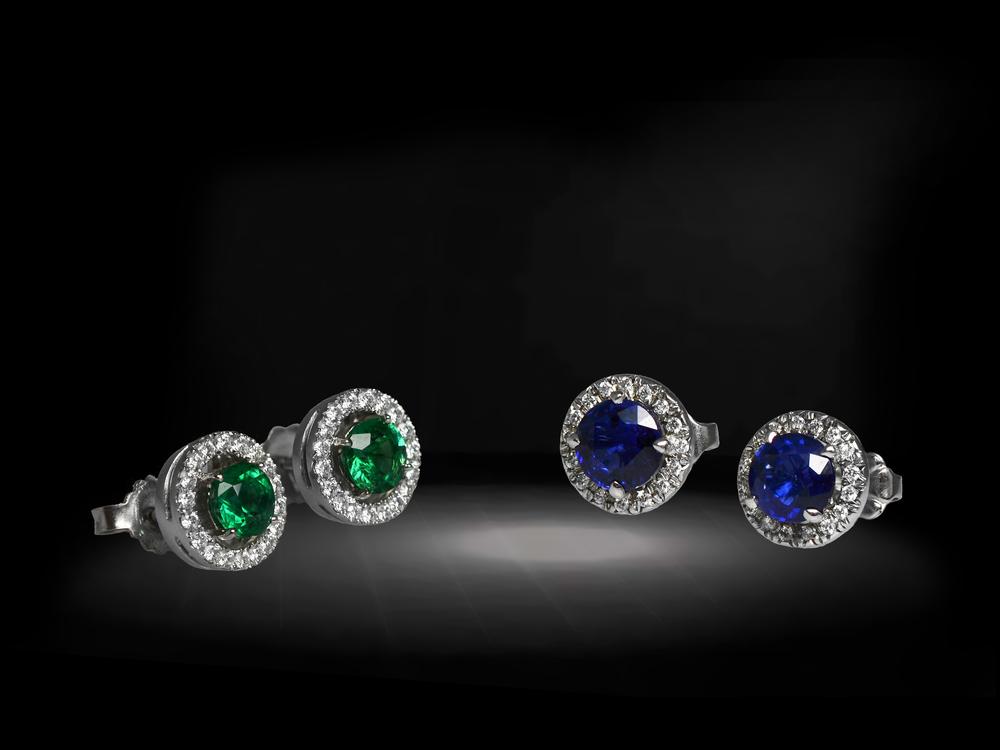 Sapphire&EmeraldStuds