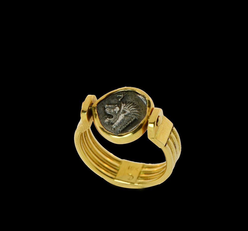 6th Century BC Coin, Set in 18k Yellow Gold