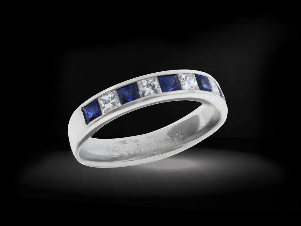 Princess Channel Sapphire Ring