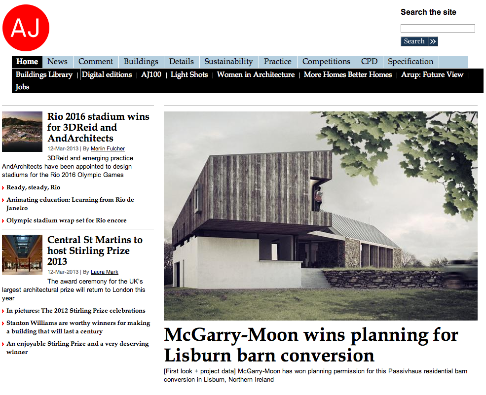 Mcgarry moon architects lisburn barn conversion featured for Moon architecture