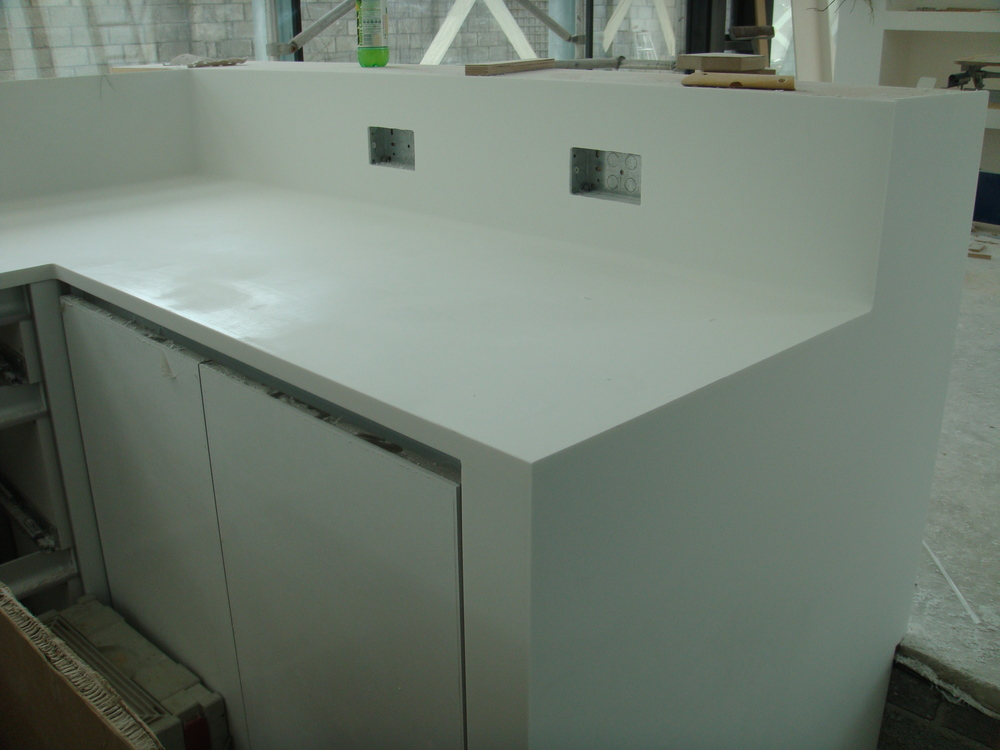 corian worktop looking good