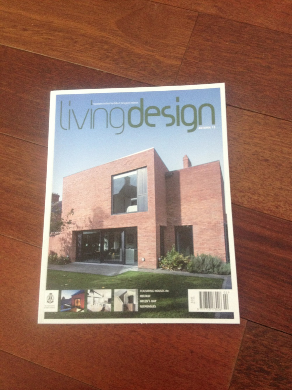 The cover of Living Design magazine which we feature in.