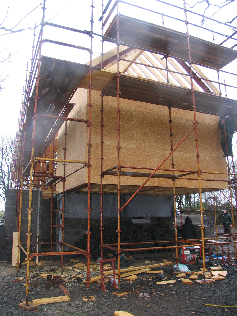 cantilever being sheathed for stability