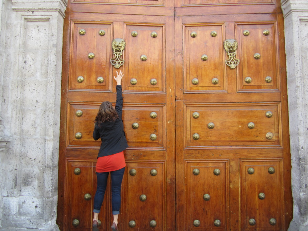 Church doors in Arequipa