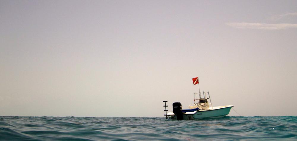 Boat off of Pelican Shoal, Key West, FL