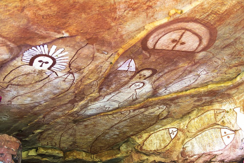Wandjina Aboriginal-Felsmalereien, Kimberley-Region.jpg