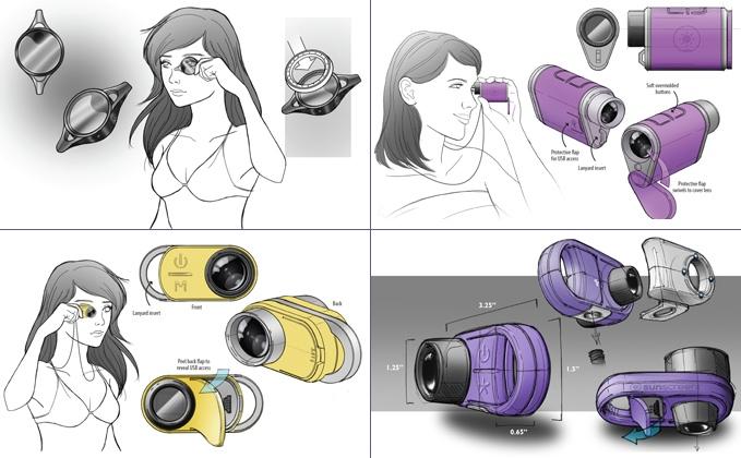 Industrial design form development sketches