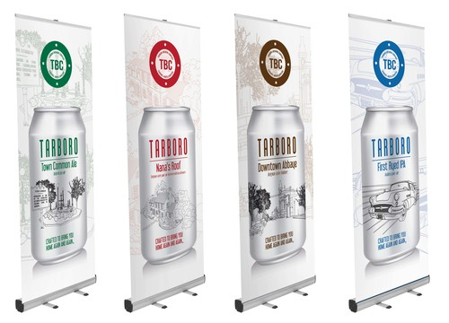Tarboro Brewing Company promotional banners