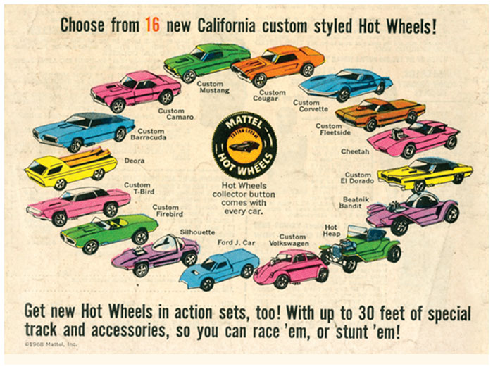"""The Sweet 16"" - Hot Wheels' First Line of Cars From 1968"