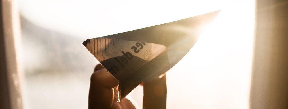 Paper Airplane Window Sun - Trig Industrial Design - Explore Prototype Build