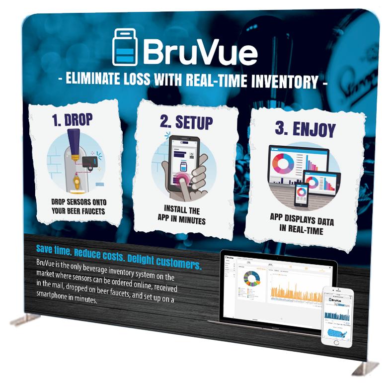Industrial Design Marketing BruVue Large Stand Sign