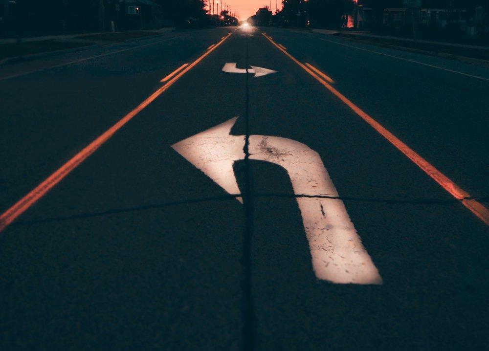 Generous vs Finance Road Arrows Sunset