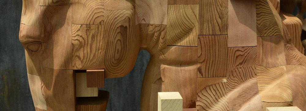 Han Hsu Tung Pixel Sculpture Horse