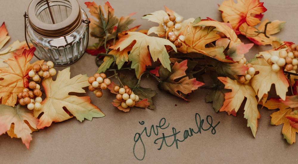 Fall Harvest Trig Newsletter Header Give Thanks