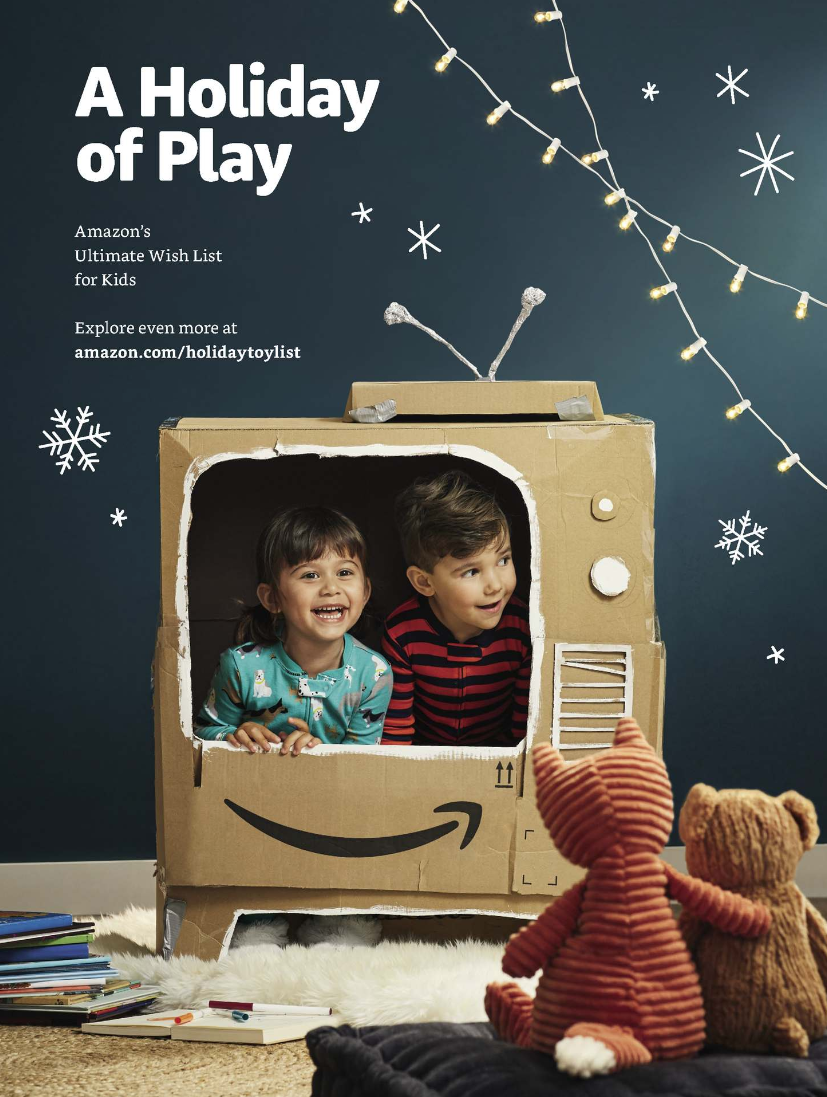 Amazon Holiday Toy Catalog 2018 Marketing Brand Advertising Campaign