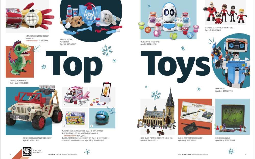 Amazon Holiday Toy Catalog 2018 Page 3 Marketing Brand Advertising Campaign