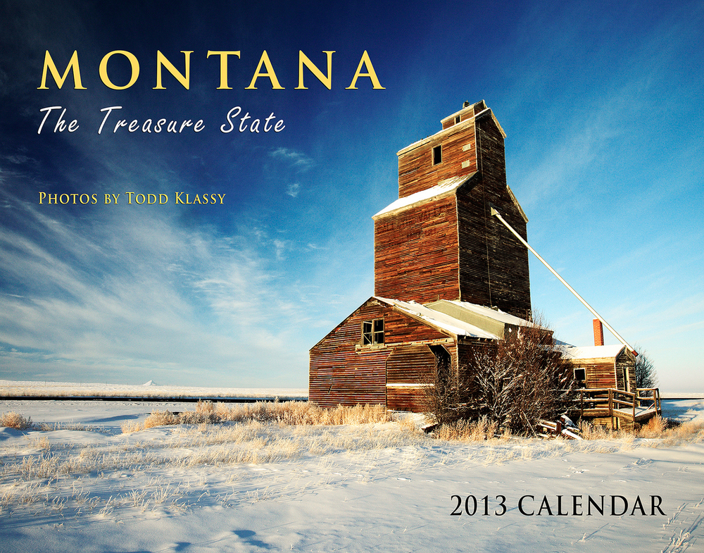 My 2013 Montana calendar is available now.