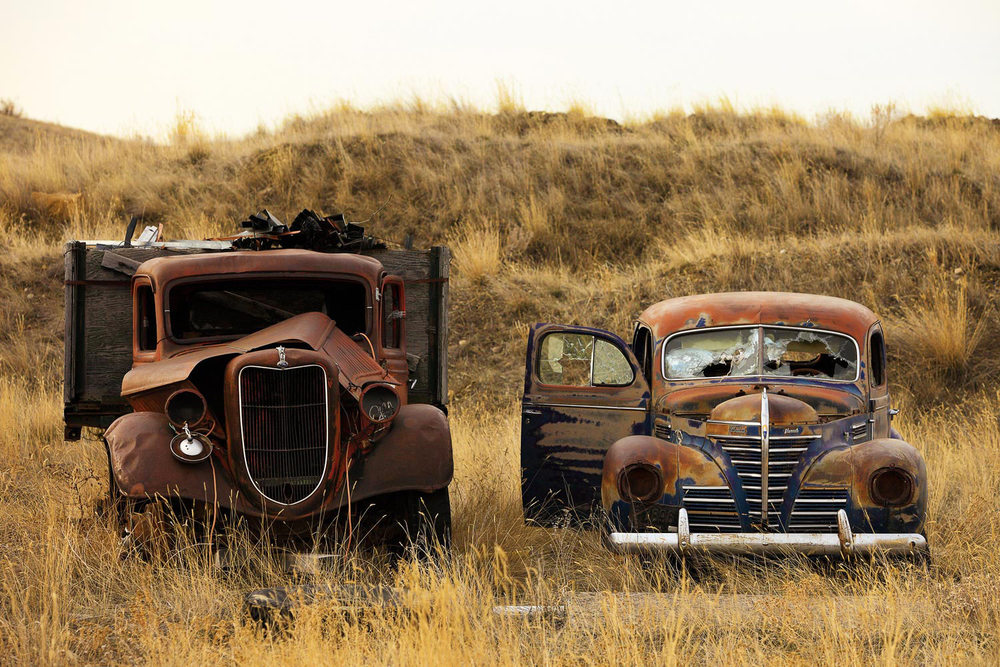 Things I like about Montana:  Old, antique cars everywhere just begging to be restored. → Buy a Print