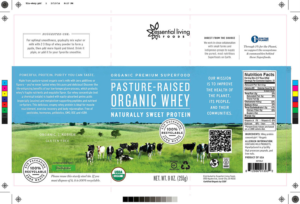The Essential Living Foods product packaging featuring my photograph of dairy cows grazing in a beautiful green pasture. → Buy a Print