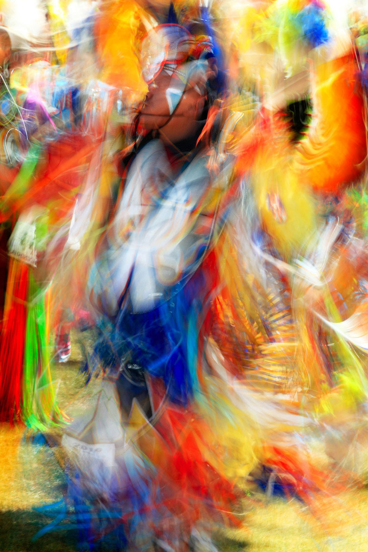 Native American Indian dancer at the Rocky Boy Powwow. → Buy a Print