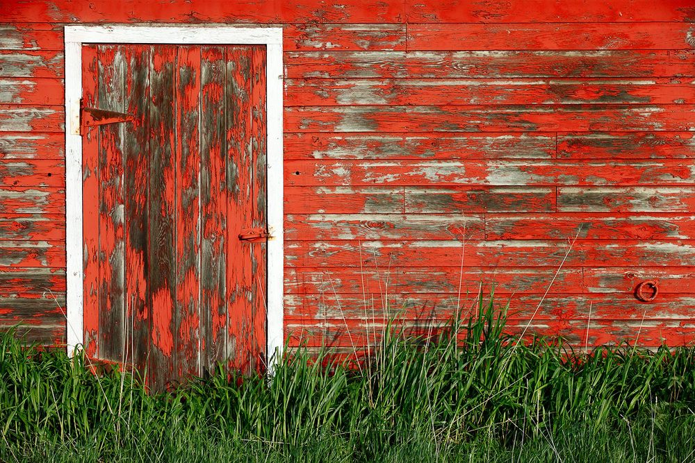 Old Red Barn Wall