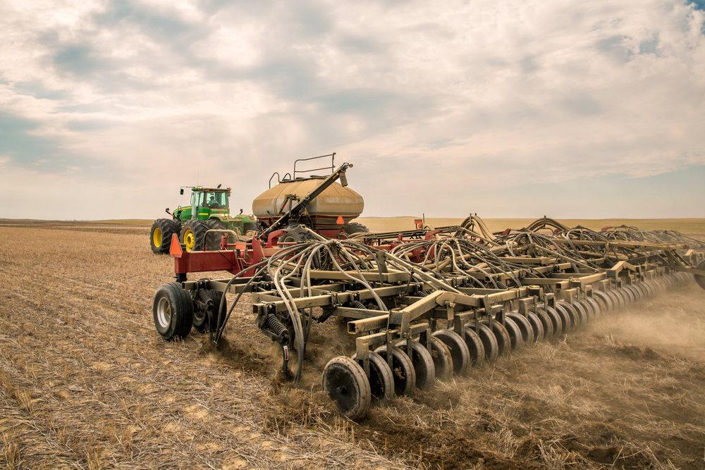 Air Drill Seeding