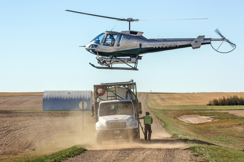 Enstrom 480 Helicopter Landing