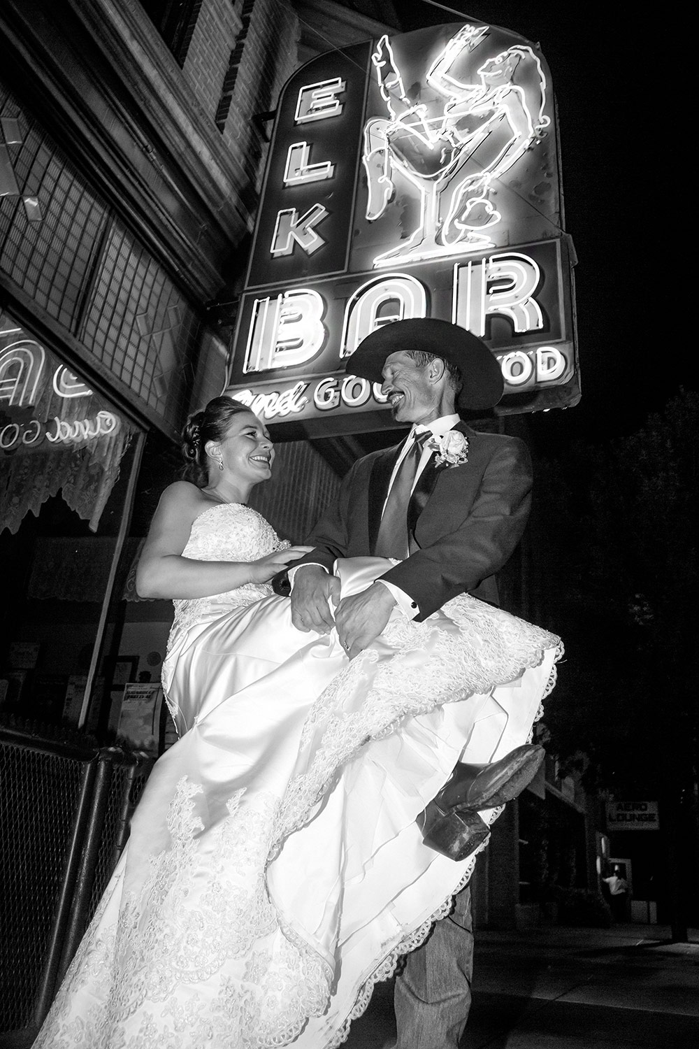 Newlyweds Under Neon