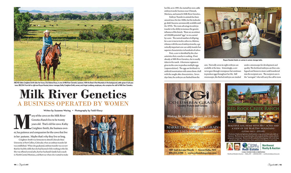 Milk River Genetics Article