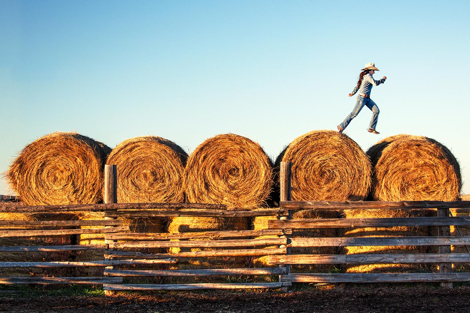Leaping Over Bales
