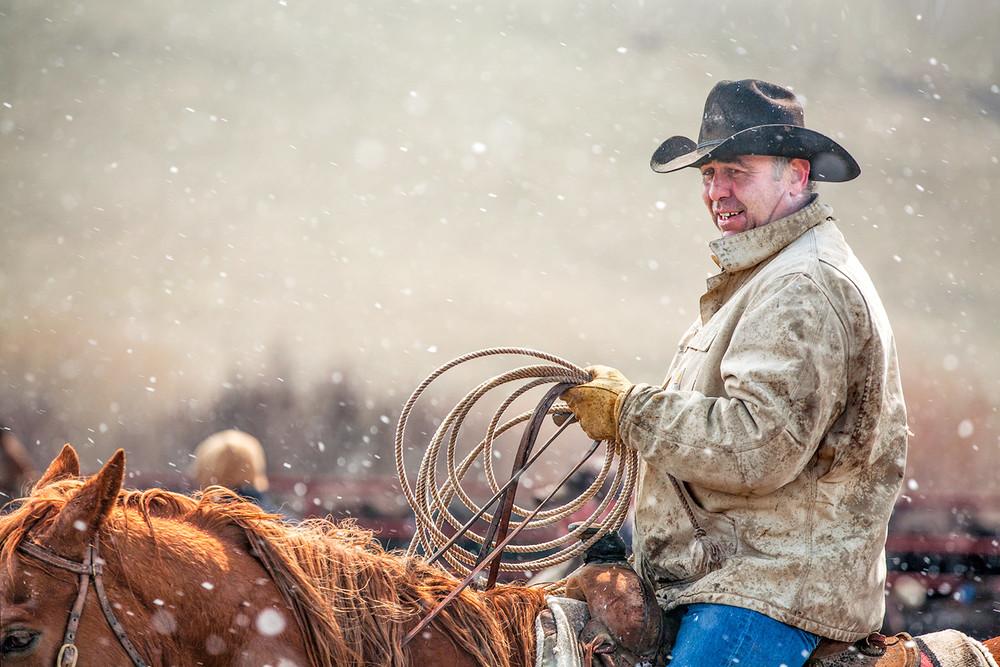Snowy Cowboy