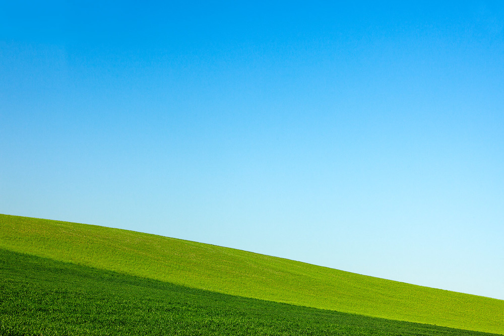 Layers of Green and Blue