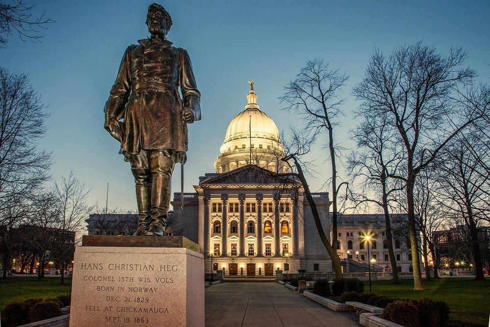 Statue Capitol Dusk