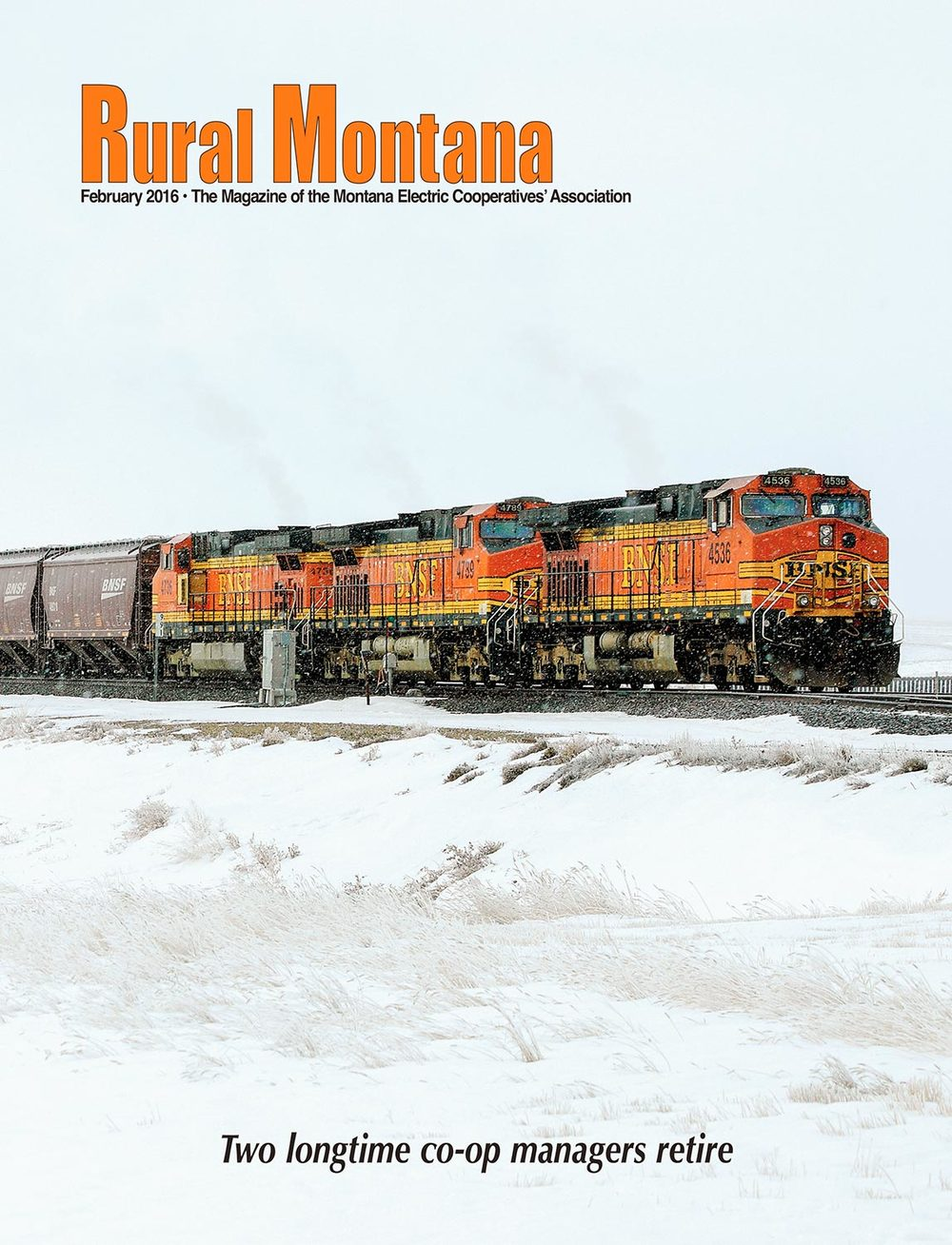 My photo of a train chugging through Rudyard, Montana appears on the cover of the February 2016 issue of Rural Montana magazine. → Buy a Print