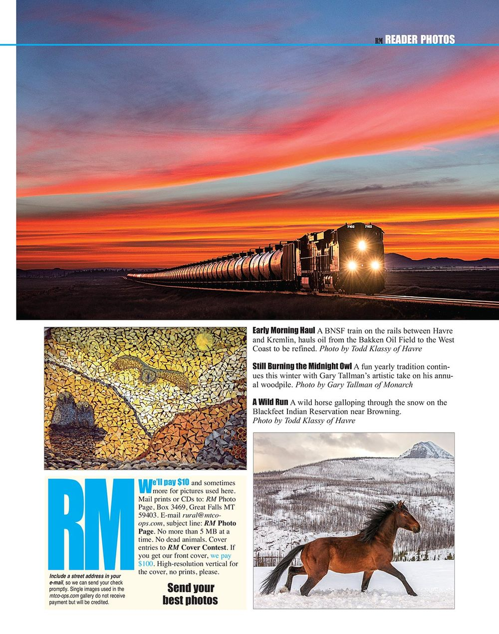 Photos in Rural Montana Magazine