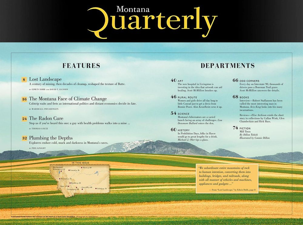 My photograph of contoured fields near Geraldine, Montana is published in the March 2016 issue of Montana Quarterly magazine. → Buy a Print
