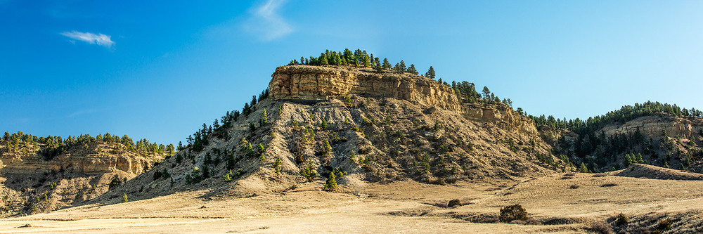 The beautiful rocky landscape of the rims in the Big Coulee between Ryegate and Rapelje, Montana.   → Buy a Print