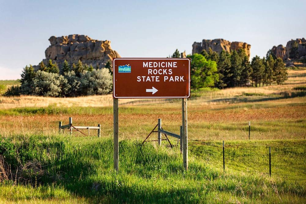 Medicine Rocks Sign