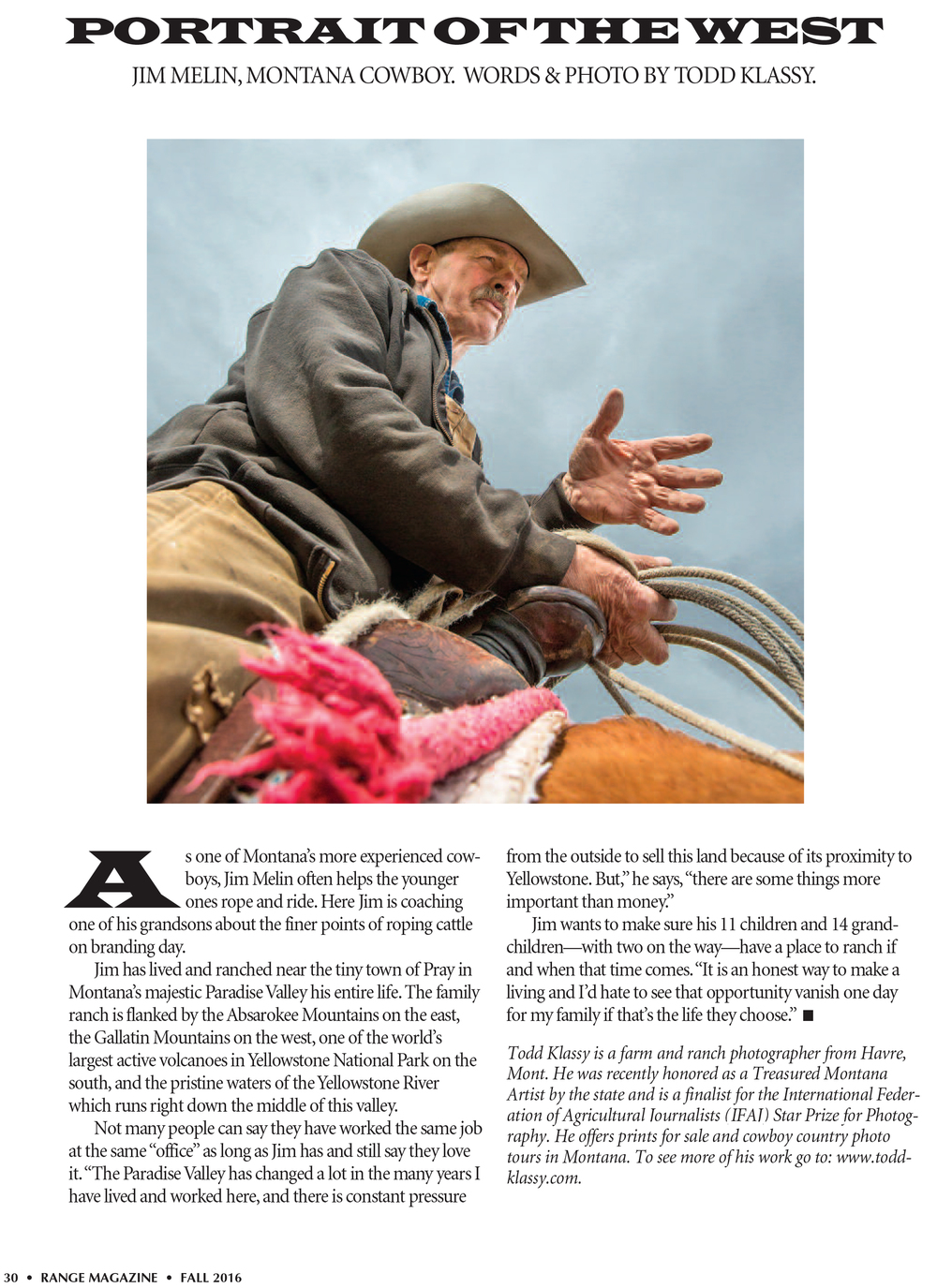 Range Magazine Profile