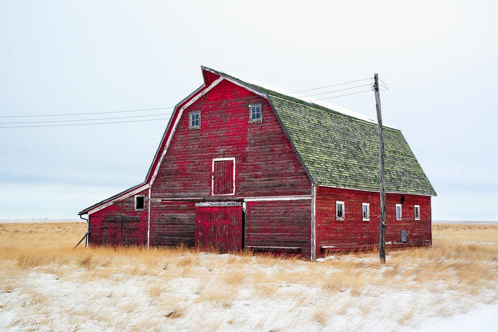 Red Winter Barn