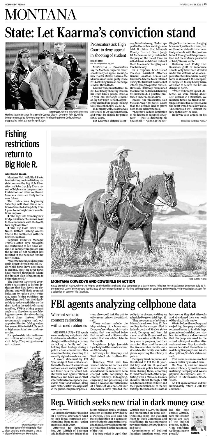 Photos of Cowgirls Appear in Helena Independent to Celebrate National Day of the Cowboy