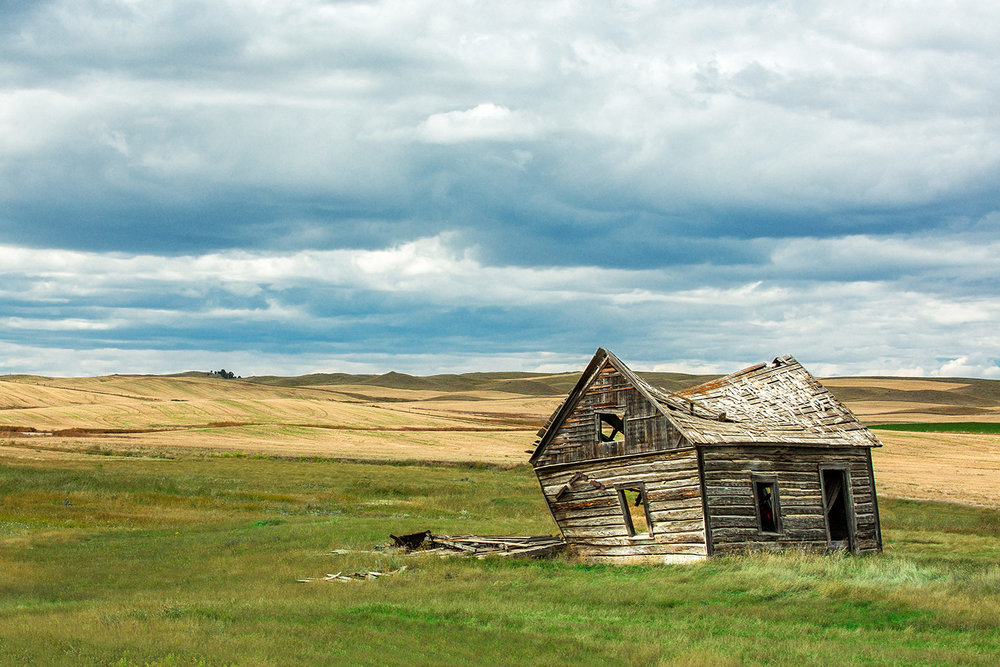 An old, broken down shack on Montana's prairie outside of the small town of Winifred. Within a week of me making this photo this beautiful old building was gone.   → Buy a Print   or   License Photo