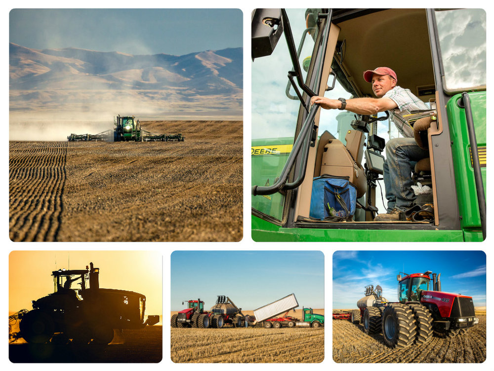 Agriculture Photos of Seeding Wheat
