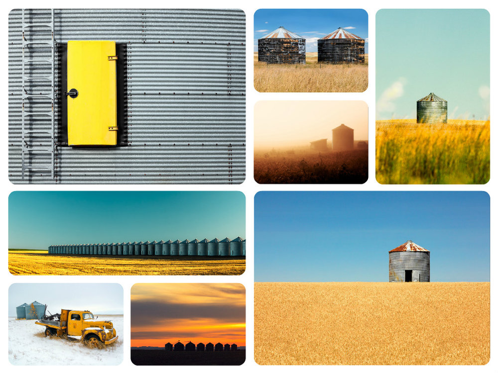 Agriculture Photos of Grain Bins