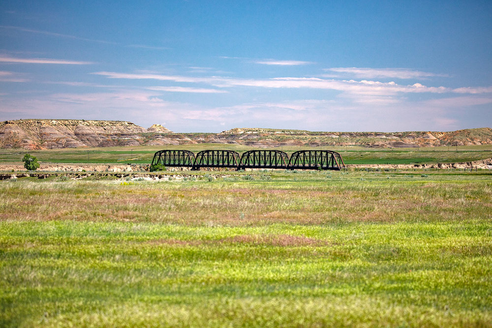 Powder River Bridge at Calypso Trail Terry Badlands Montana