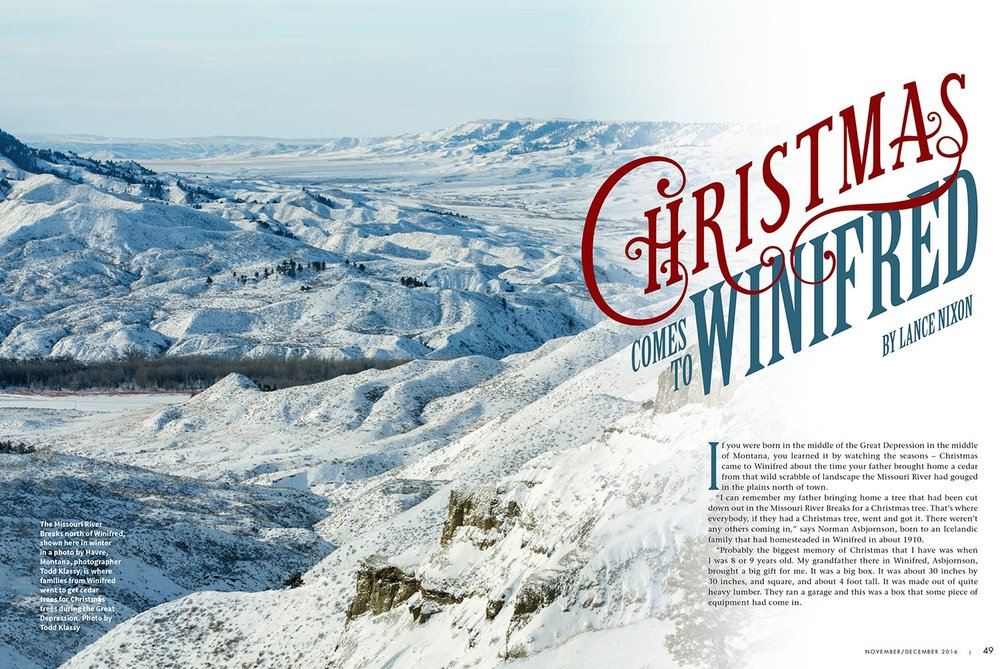Montana Magazine Two-Page Spread