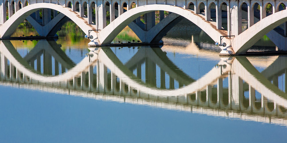 Arches Reflected