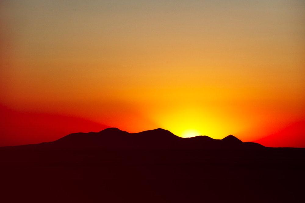 Sunset Over the Sweet Grass Hills