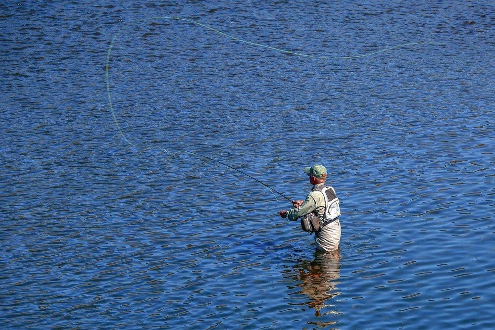 Fishing in Blue
